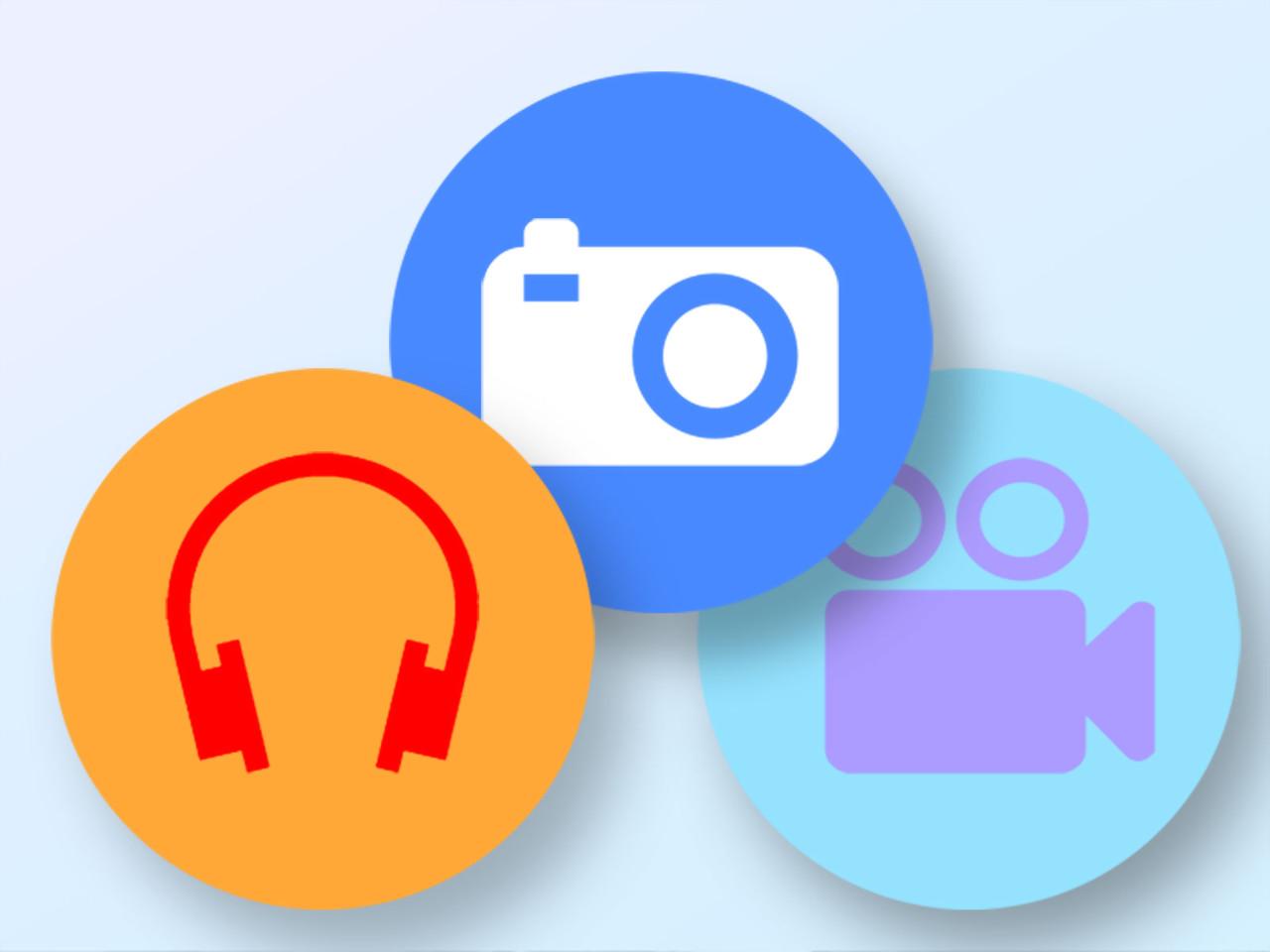 logo vidéo photos sons