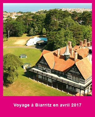 Info et réservations sur le voyage à Biarritz