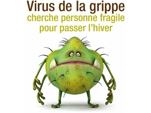 humour grippe