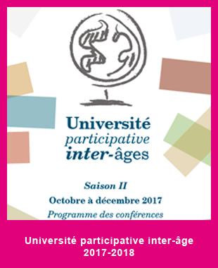 Université participative inter-âge Sevran 2017-2018 1er trimestre
