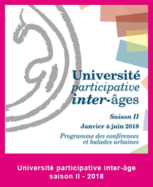 Université participative inter-âge II – 2d semestre