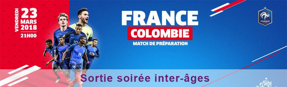 Sortie intergénérationnelle France/Colombie au stade de France