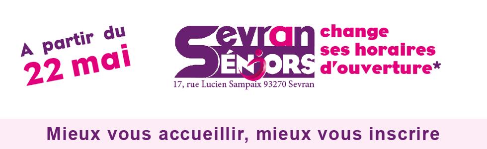 22 mai : Sevran-Séniors change d'horaires